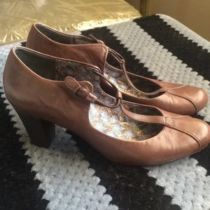 Camper Ariadna T bar heels shoes leather size 39